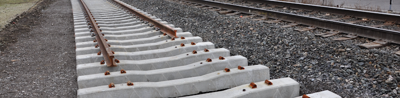 Railroad ties below unfinished tracks: laying a foundation for going forward