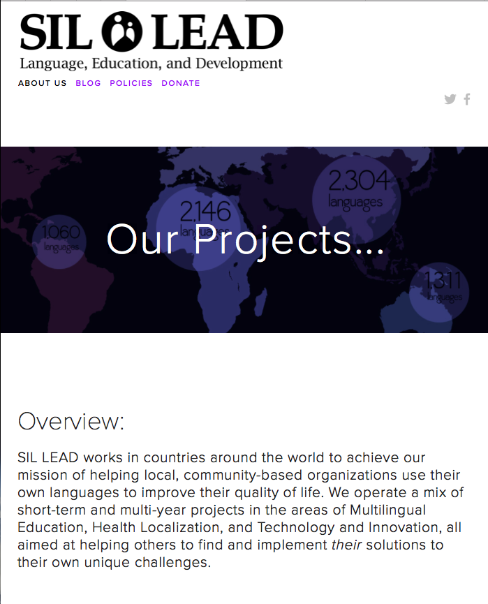 SIL LEAD projects webpage thumbnail image